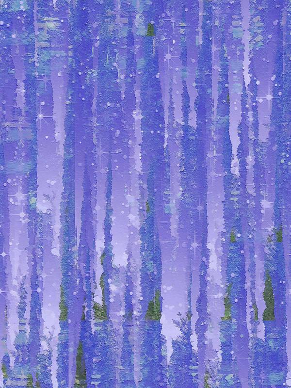 Evening Art Print featuring the digital art Twilight by Wendy J St Christopher