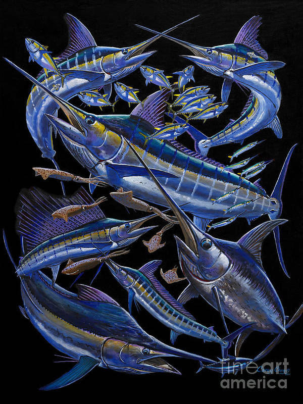 Marlin Art Print featuring the painting Ultimate Goal Off00128 by Carey Chen