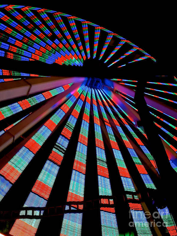 156 Foot Tall Art Print featuring the photograph Under The Giant Wheel by Mark Miller