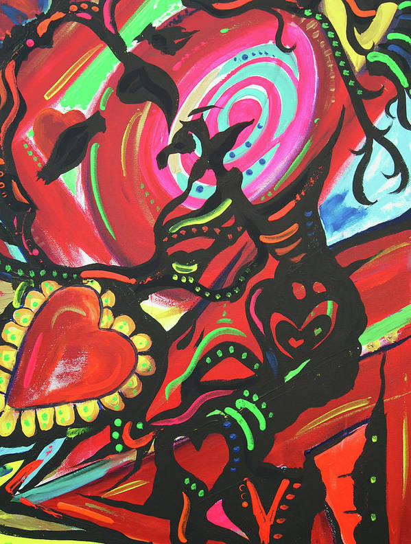 Valentine's Day Art Print featuring the painting Valentine's Day by Lorinda Fore