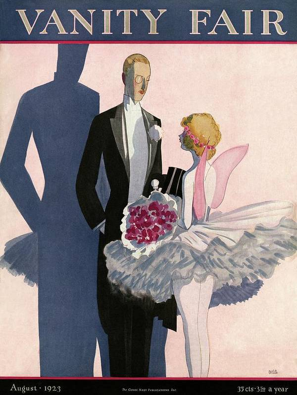 Illustration Art Print featuring the photograph Vanity Fair Cover Featuring A Man In A Tuxedo by Eduardo Garcia Benito