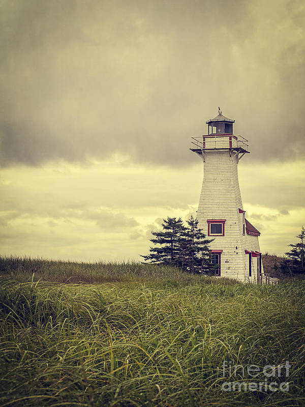 Prince Print featuring the photograph Vintage Lighthouse Pei by Edward Fielding