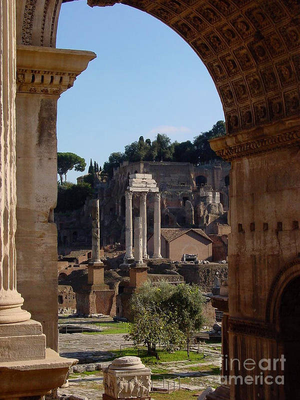 Italy Art Print featuring the photograph Visions Of Rome by Nancy Bradley