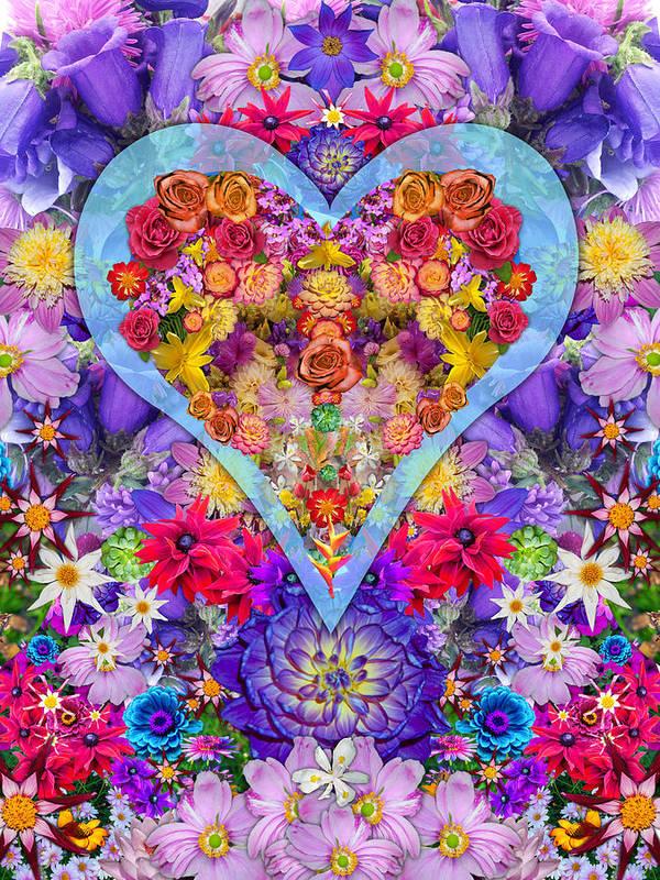 Wild Flower Heart Art Print featuring the photograph Wild Flower Heart by Alixandra Mullins