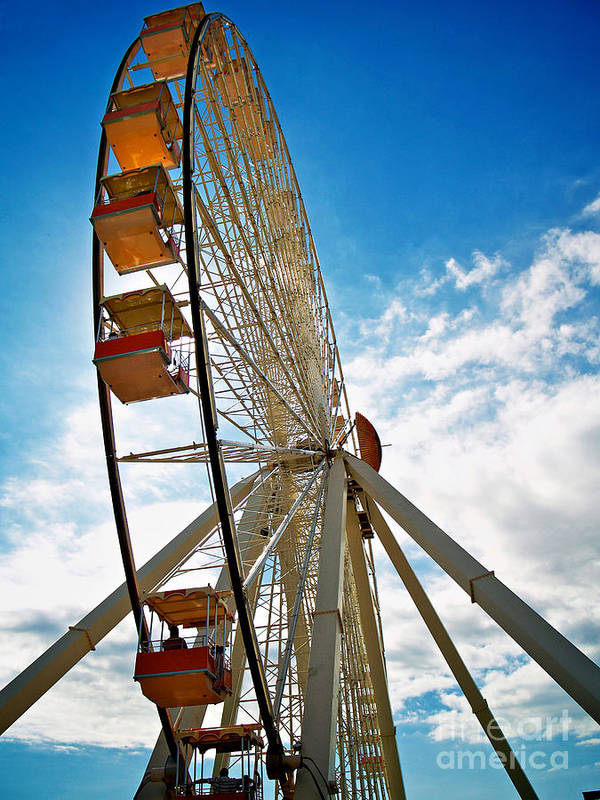 156 Foot Tall Art Print featuring the photograph Wildwood's Wheel by Mark Miller