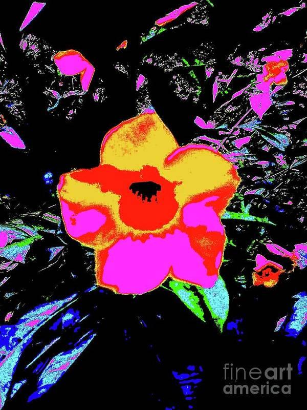 Digital Art Art Print featuring the digital art Yellow Front 5a by Nina Kaye