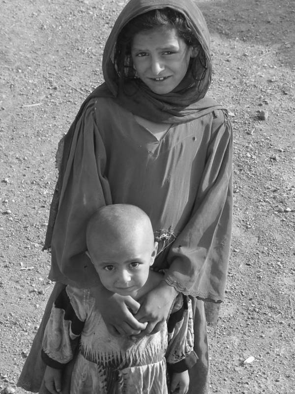 Children Art Print featuring the photograph Afghan Girls by Brittany Roth