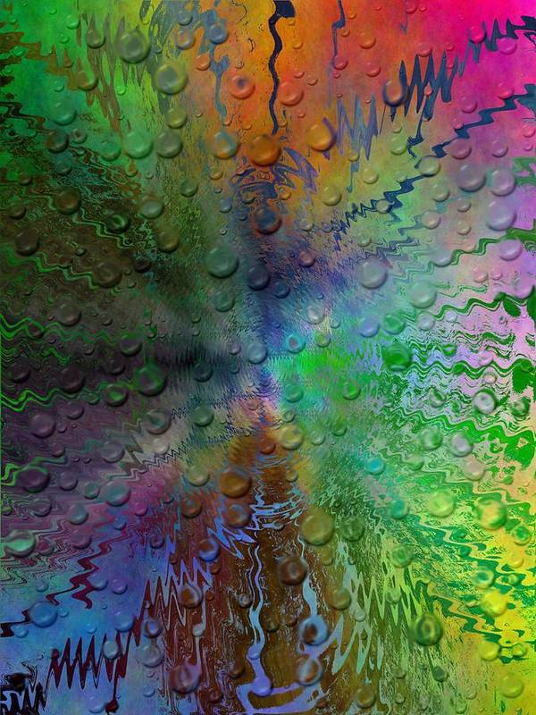 Abstract Art Print featuring the digital art After The Rain 2 by Tim Allen