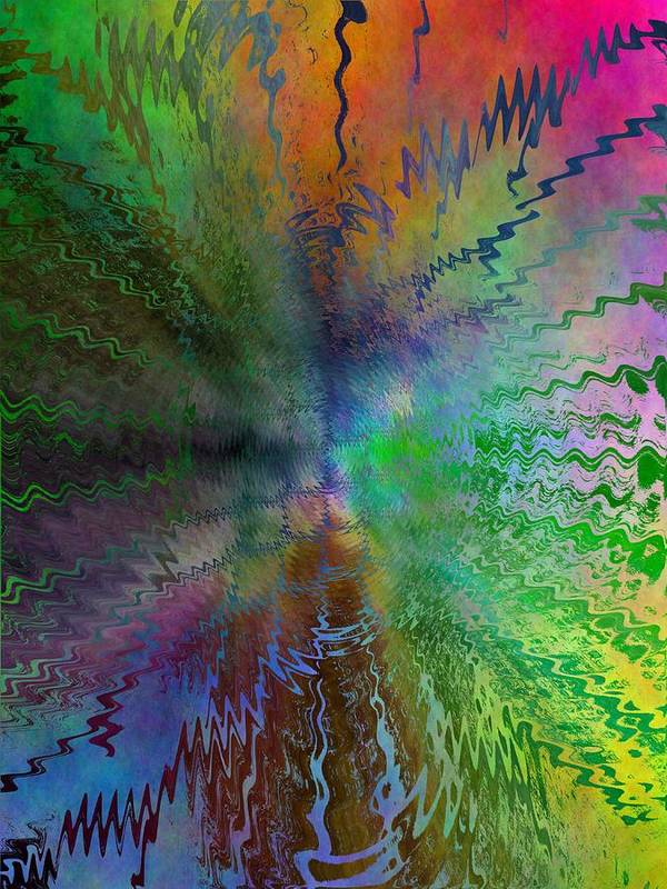 Abstract Art Print featuring the digital art After The Rain by Tim Allen