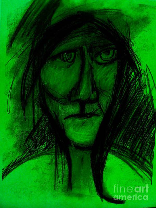 New Media. Art Print featuring the mixed media Pastel Man 9 by Bill Davis