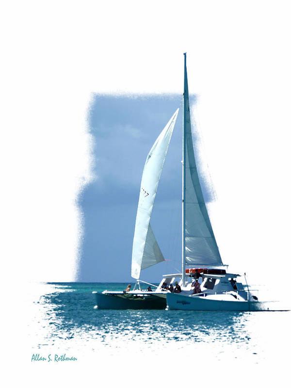 Sailing Art Print featuring the photograph Turks 45 by Allan Rothman