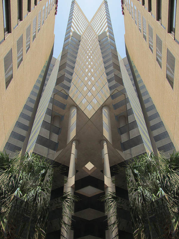 Digital Art Print featuring the digital art Building by Michele Caporaso