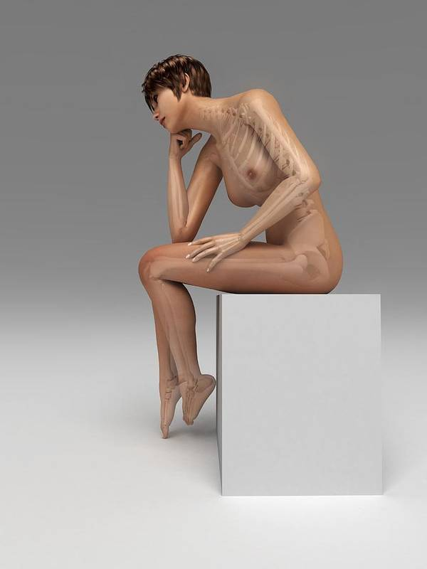 Artwork Art Print featuring the photograph Female Anatomy, Artwork by Sciepro