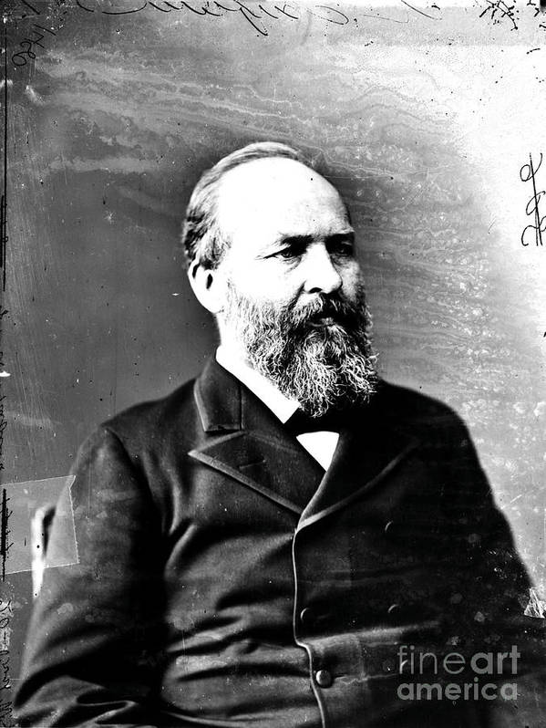 Government Print featuring the photograph James A. Garfield, 20th American by Photo Researchers