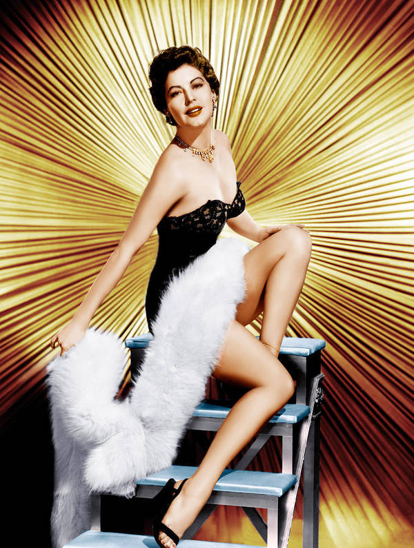 1950s Portraits Art Print featuring the photograph Ava Gardner, Ca. 1950s by Everett