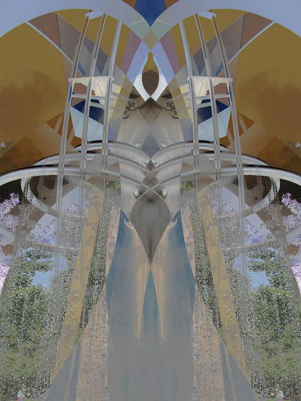 Digital Art Print featuring the digital art Sculpture by Michele Caporaso