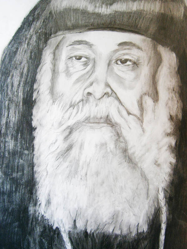 Abune Zena Markos Art Print featuring the drawing Abune Zena Markos-in Memory Of The Great Bishop by Bj A