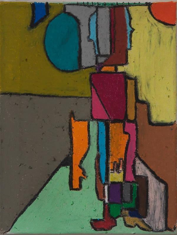 Abstract Paintings Art Print featuring the painting Al Trabajo by Jaime Rodriguez-raigoza