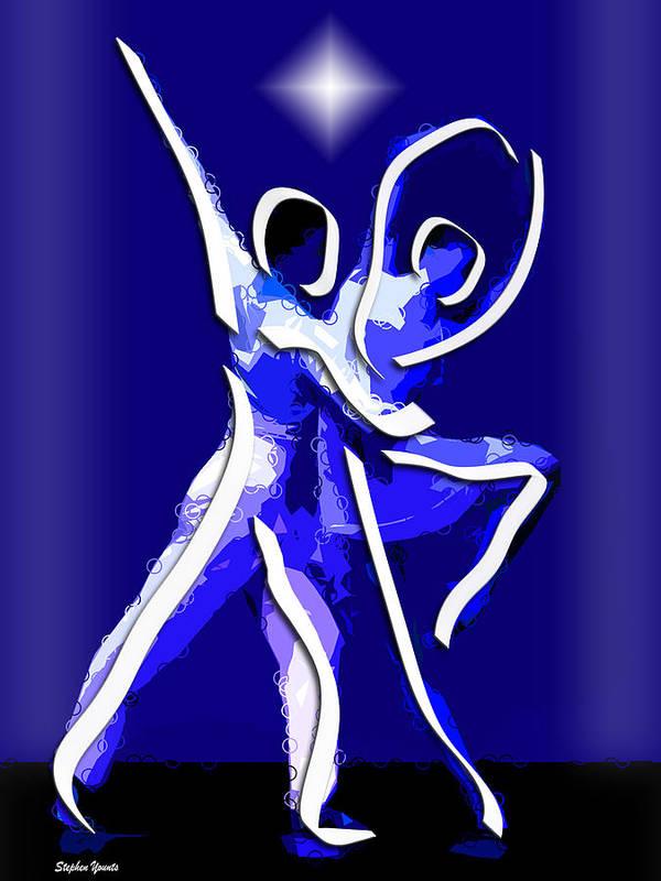 Ballet Art Print featuring the digital art Ballet by Stephen Younts