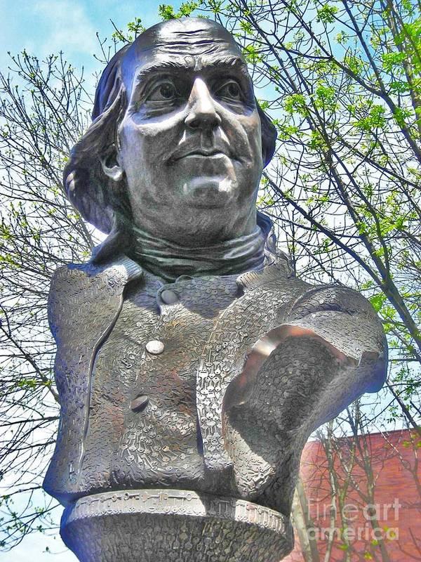 Benjamin Franklin Art Print featuring the photograph Ben's Bust by Snapshot Studio