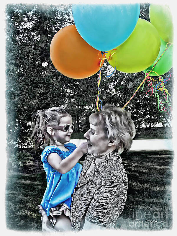 Birthday Party Art Print featuring the photograph Birthdays by Joan Minchak