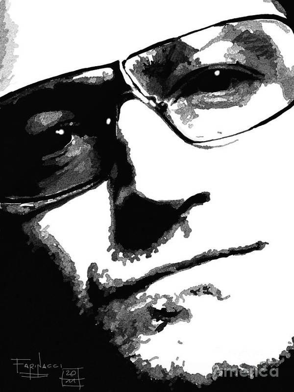 Celebrities Art Print featuring the digital art Bono by Patrizio Farinacci