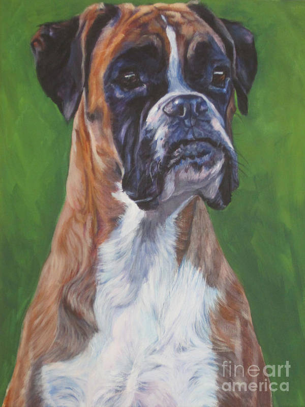 Boxer Art Print featuring the painting Boxer by Lee Ann Shepard