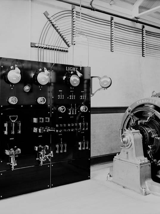 History Art Print featuring the photograph Control Panel And Dynamo Generator by Everett
