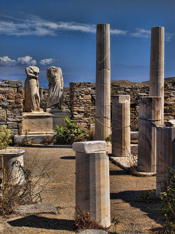 House Of Cleopatra Art Print featuring the photograph Delos Island by David Smith