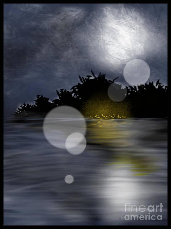 Landscape Art Print featuring the digital art Dreamworld by J Kinion