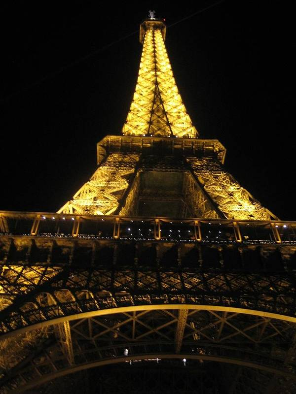 Eiffel Art Print featuring the photograph Eiffel Tower In Lights by Angela Rose