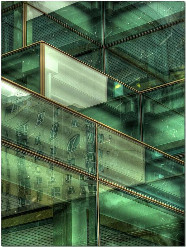 Emerald City Art Print featuring the photograph Emerald City Abstract by Chris Anderson