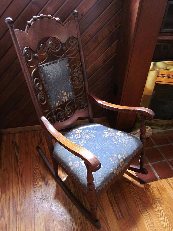 Rocking Chair Art Print featuring the photograph Empty Rocking Chair by Guy Ricketts