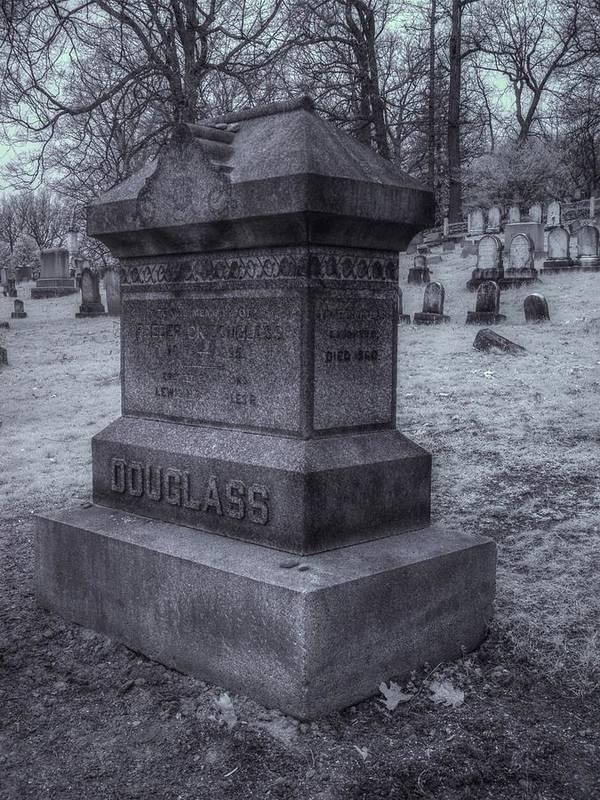 Frederick Douglass Art Print featuring the photograph Frederick Douglass Grave One by Joshua House