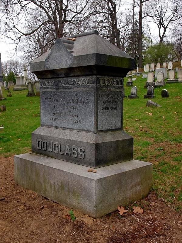 Rederick Douglass Art Print featuring the photograph Frederick Douglass Grave Two by Joshua House