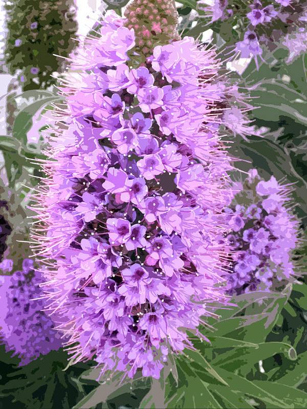 Fuzzy purple flower spike art print by elaine plesser flower art print featuring the painting fuzzy purple flower spike by elaine plesser mightylinksfo