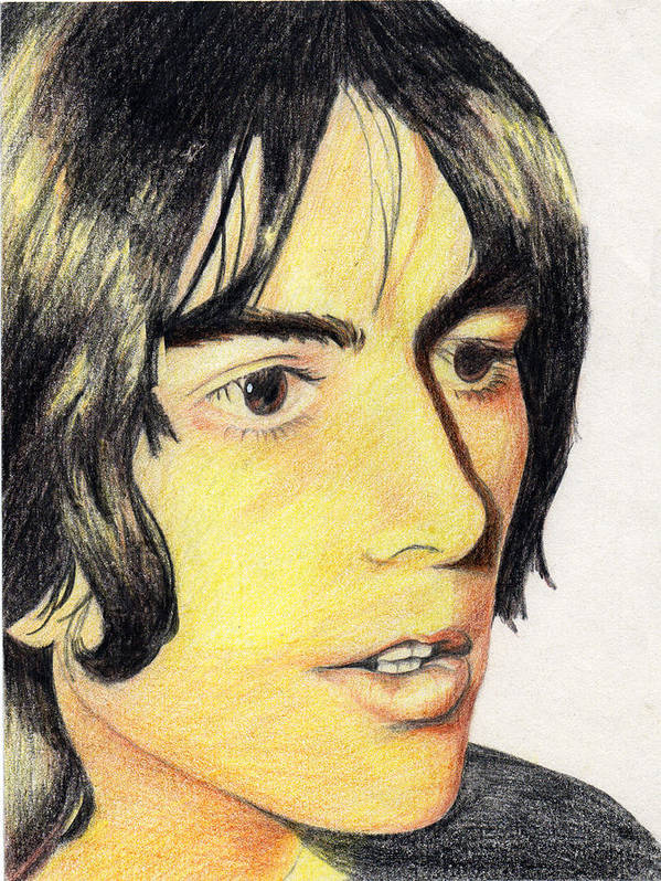 Beatles Art Print featuring the painting George Harrison by Jayne Kennedy