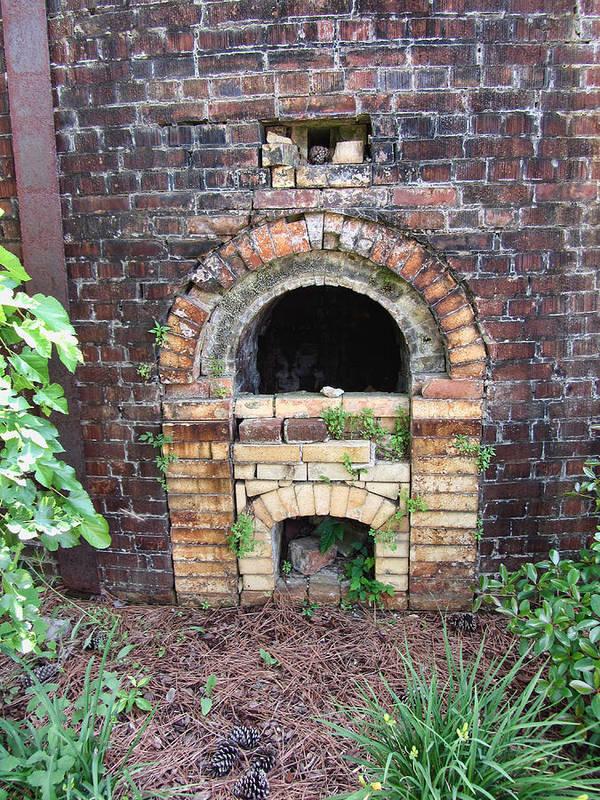 Brick Kiln Art Print featuring the photograph Historical Antique Brick Kiln In Morgan County Alabama Usa by Kathy Clark
