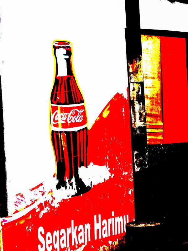 Bali Art Print featuring the photograph Indonesian Coke Ad by Funkpix Photo Hunter