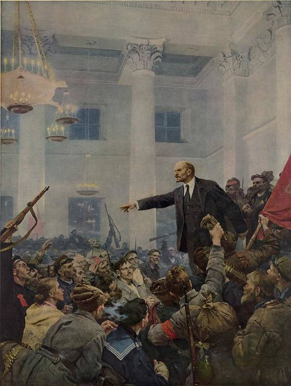 History Art Print featuring the photograph Lenin 1870-1924 Declaring Power by Everett
