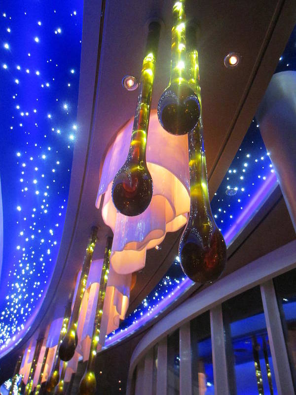 Oasis Of The Seas Art Print featuring the photograph Lights On The Oasis by Laurie Prentice