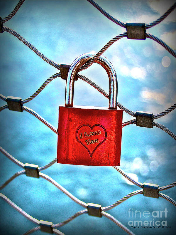 A Padlock On A Bridge Fence In Salzburg Austria Art Print featuring the photograph Locked In It Together by Taylor Steffen SCOTT