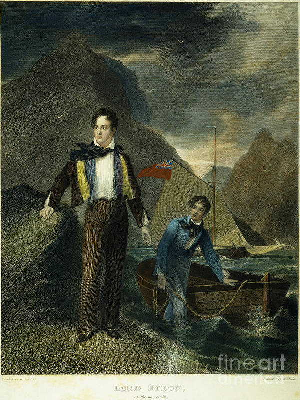 1807 Print featuring the photograph Lord Byron by Granger