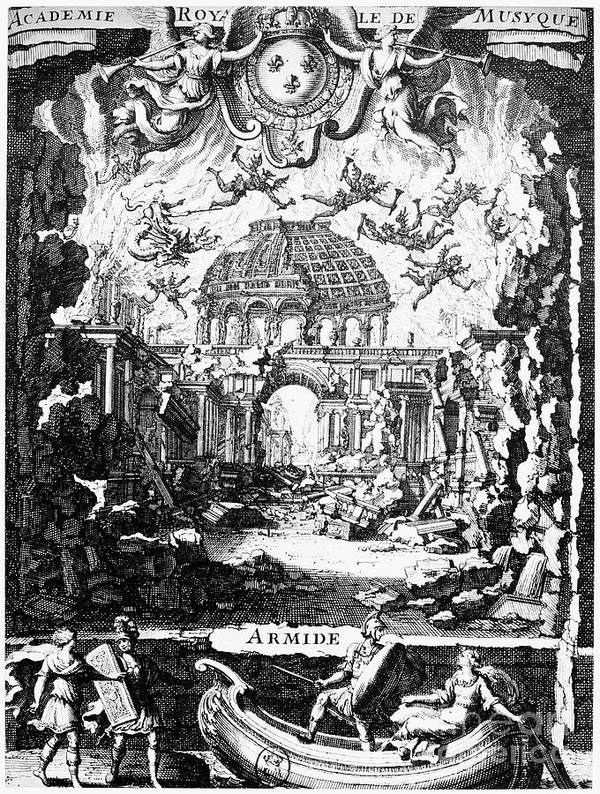 1686 Art Print featuring the photograph Lully: Armide, 1686 by Granger