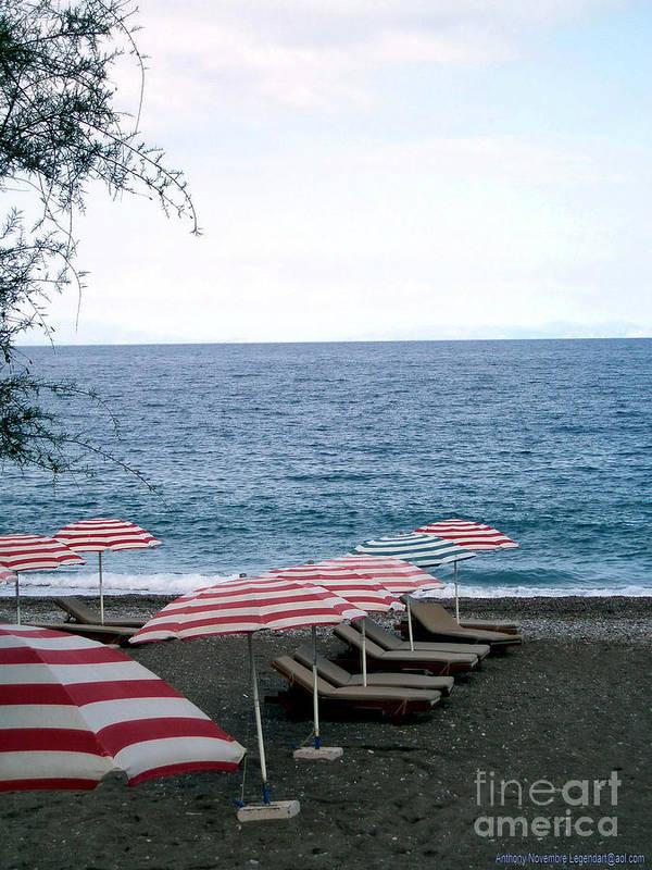 Beach Art Print featuring the photograph Mediterranean Beach Time by Anthony Novembre
