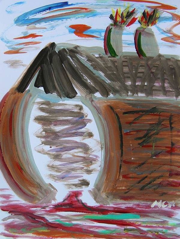 Self Taught Art Print featuring the painting Mill Entry by Mary Carol Williams