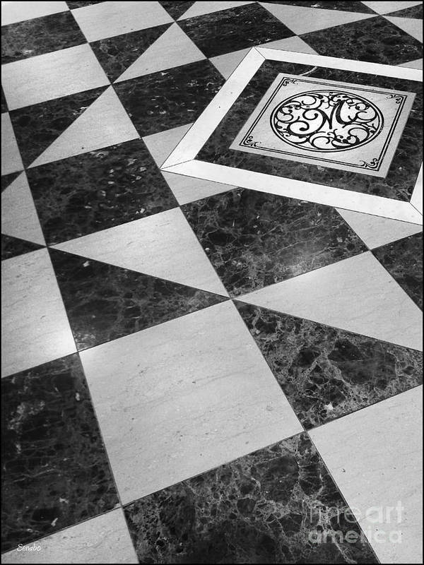 Floor Art Print featuring the photograph Mind Your Steps by Eena Bo
