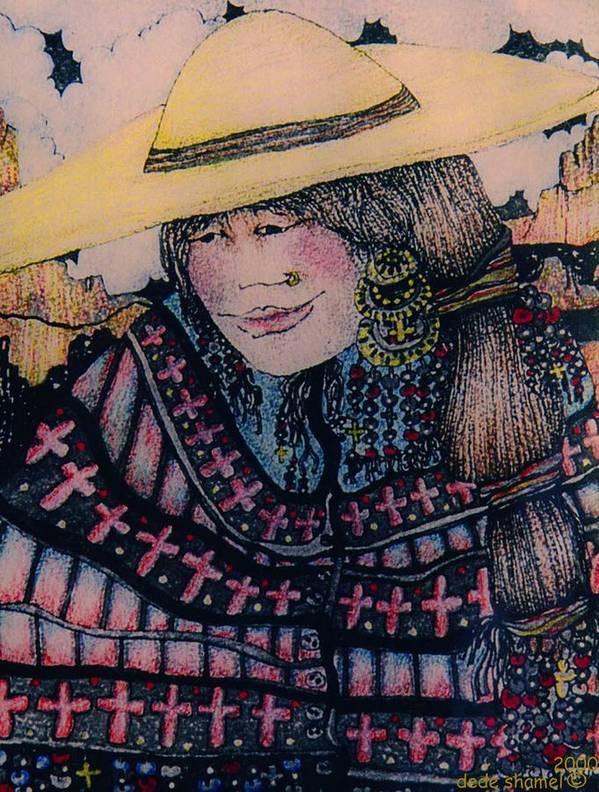 Country Art Print featuring the painting Mirage Girl by Dede Shamel Davalos