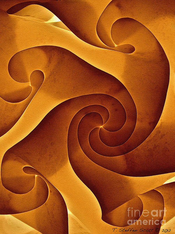 Abstract Art Print featuring the photograph Motion With Purpose by Taylor Steffen SCOTT