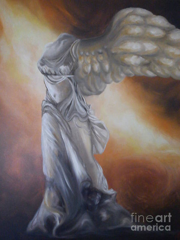 Painting Art Print featuring the painting Nike by GLORY-AN Art Gallery